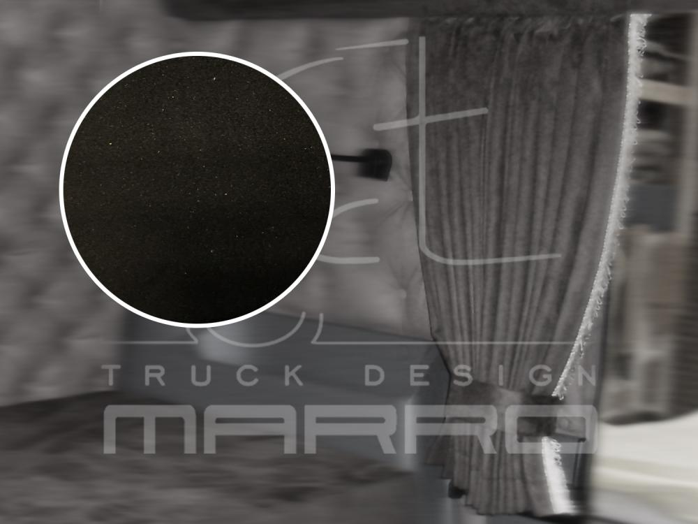 Gordijnen Alcantara 85 cm N9: black / board with fringes - Marro SCT ...