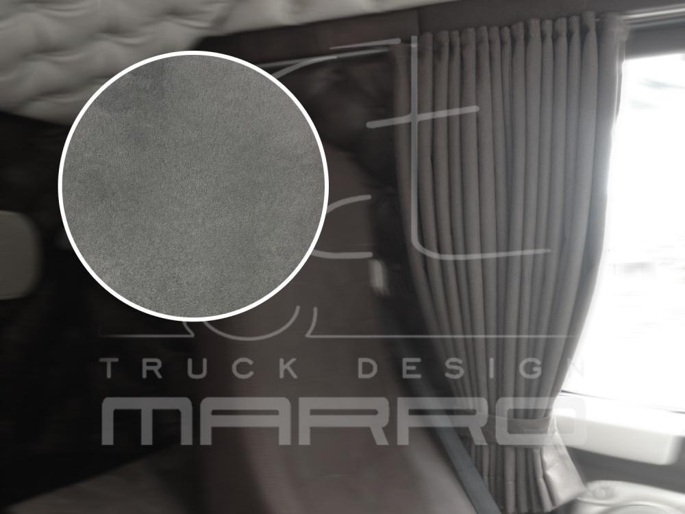 Gordijnen Alcantara 85 cm T17: licht grijs / standaard boord - Marro ...